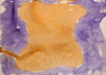JEAN MESSAGIER (1920-1999) Composition (bleu et orange)