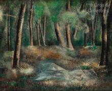 Sei KOYANAGUI (1896-1948) Jeune femme étendue dans la forêt