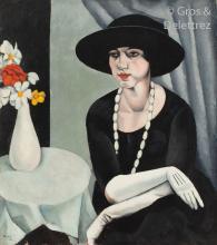 Charles KVAPIL (Tchécoslovaquie 1884 - Paris 1958) Les gants blancs