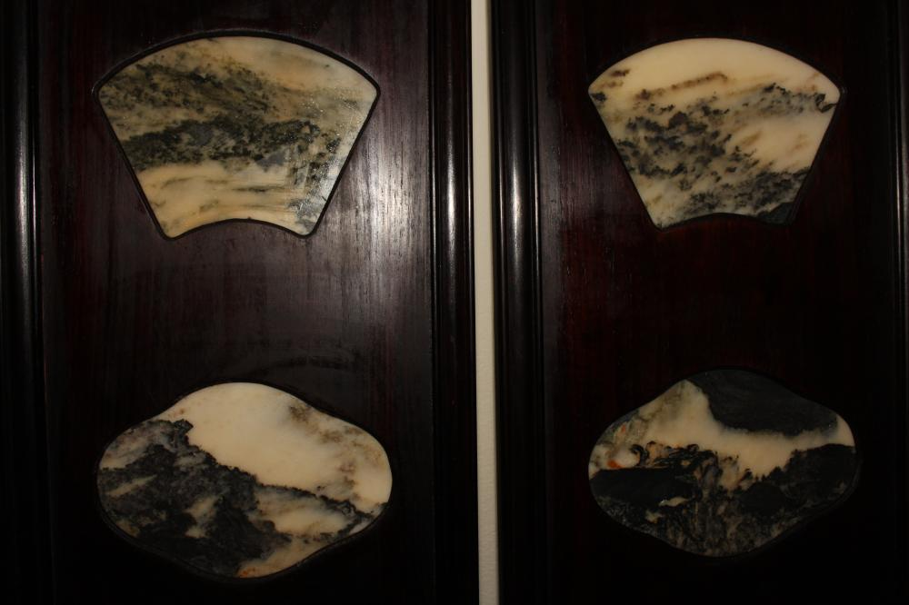 Lot 3: A Collection of Chinese Marble-stone Fengshui Display