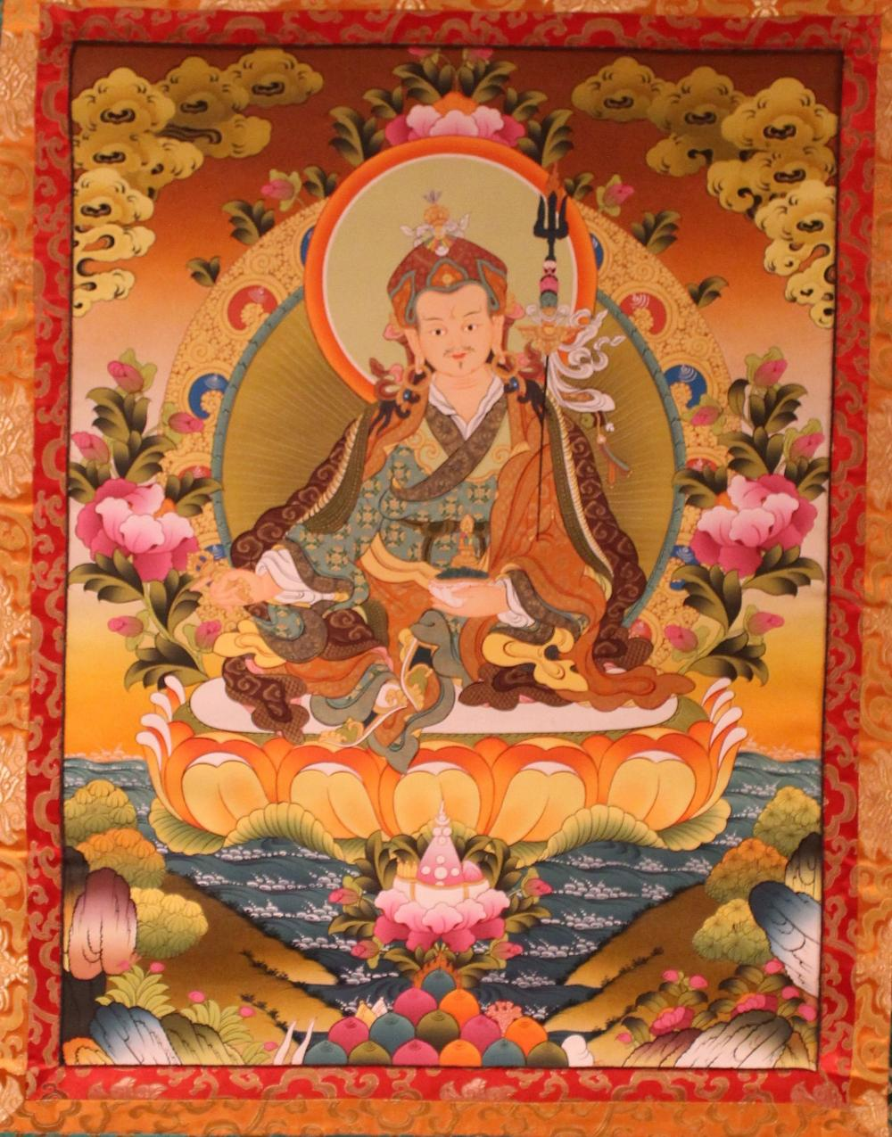 An Estate Tibetan Religious Thangka Display