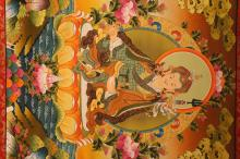 Lot 7: An Estate Tibetan Religious Thangka Display