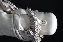 Lot 11: A Chinese Blanc De Happy-buddha Massive Display Statue