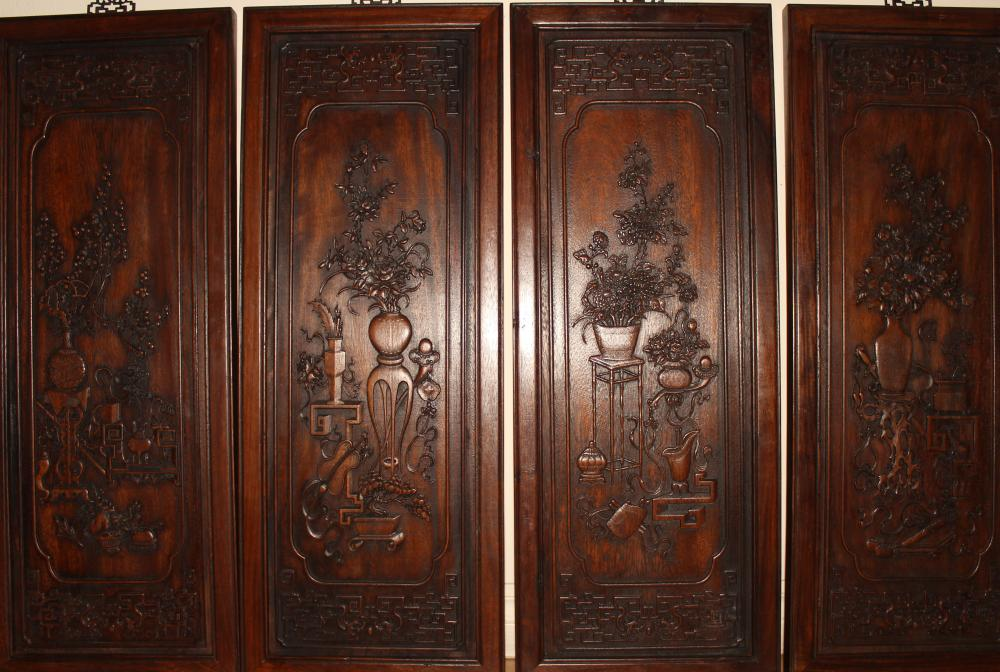 A Collection of Chinese Estate Wooden Display Panels