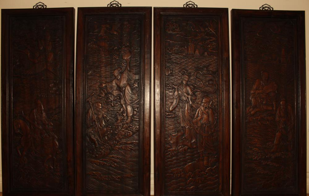 A Collection of Chinese Story-telling Wooden Panels