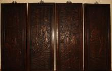 Lot 29: A Collection of Chinese Story-telling Wooden Panels