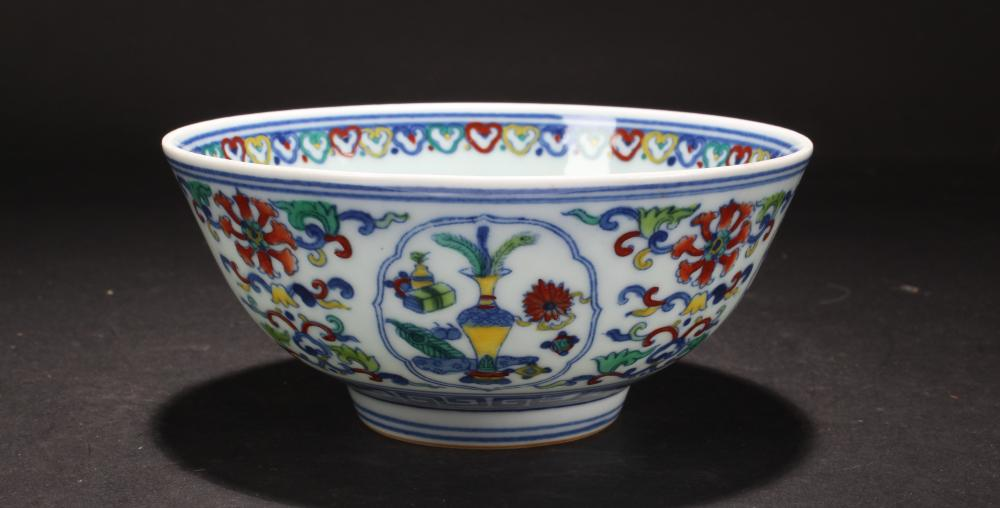 An Estate Chinese Bat-framing Porcelain Bowl