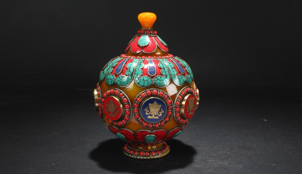 An Estate Lidded Tibetan Religious Fortune Censer