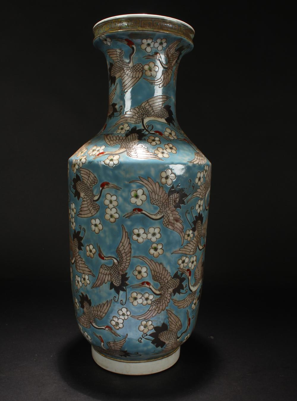 A Chinese Crane-fortune Fortune Porcelain Vase