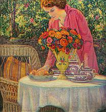 IRVINE, WILSON HENRY - The Tea Party with the Artist??s Daughter, Lois