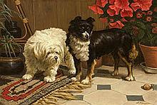 KARSSEN, ANTON - Two Pups Watching a Snail