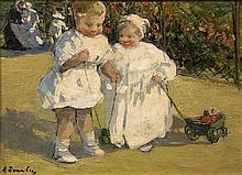 DANNENBERG, ALICE - Deux enfants au jardin (Two Children in the Garden)