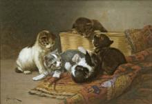DOLPH, JOHN HENRY - Kittens at Play