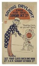 Saving Daylight Ends for 1918, Sunday, Oct. 27th
