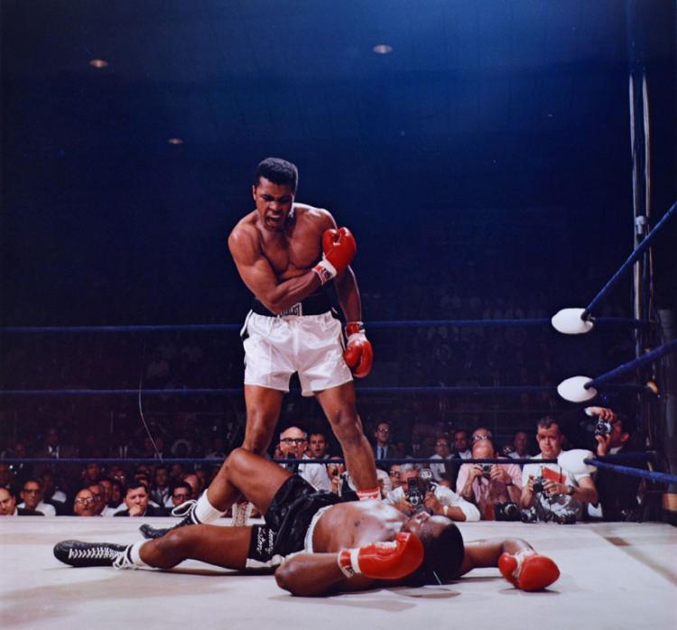 Muhammad Ali Triumphs Over a Fallen Sonny Liston
