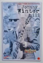 Signed Poster: Johnny Winter at Orange Blossom
