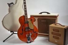 1956 Gretsch 6120 Guitar + Cowboy Case + 2 Rare Amps