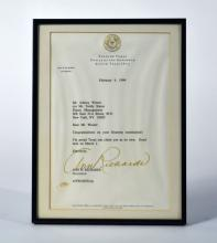 Letter from Governor Ann Richards on the Occasion of Winter's Grammy Nomination