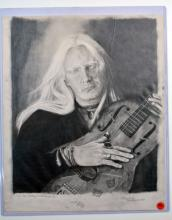 Original Graphite Portrait of Johnny, Gifted by Fan
