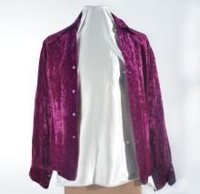 Johnny Winter's Purple Velvet Button-Down
