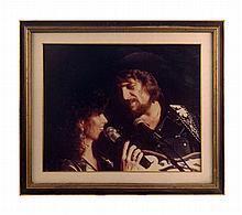 Framed Portrait of Waylon and Jessi on Stage