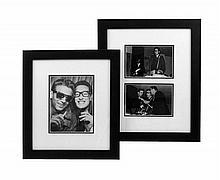Three Photographs of Waylon Jennings and Buddy Holly, 1959