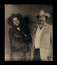 Vintage Photograph of Waylon Jennings and Billy Bob