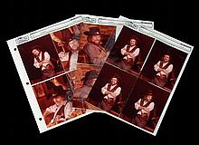 Nine Contact Prints of Waylon in His Signature Outfit