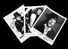 Three Glossies of Waylon Inscribed to Fans