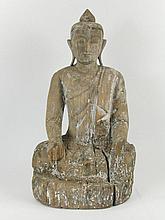 A FINE SHAN SCULPTURE OF BUDDHA,