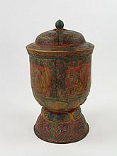 A SINO-TIBETAN COPPER ALLOY STORAGE JAR