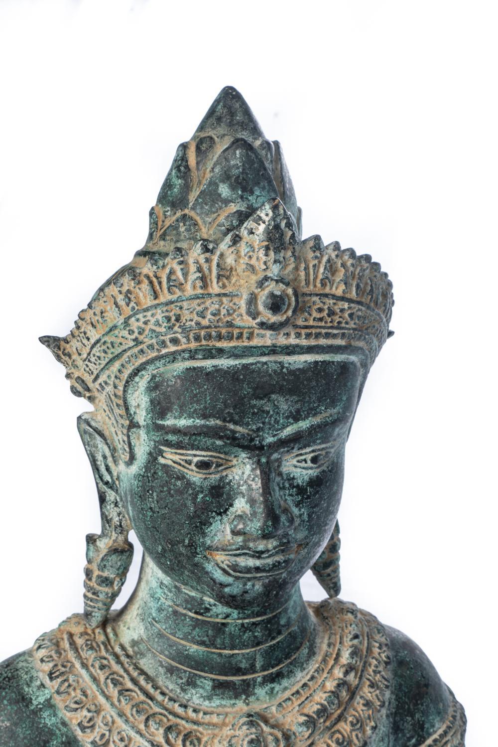 Oriental Furniture 16 Cambodian Buddha Head Statue