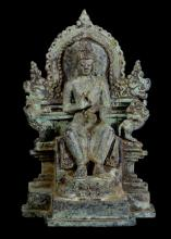 18th Century Javanese Buddha Vairochana Seated in Western Fashion