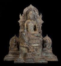 18th Century Javanese Medicine Teaching Buddha Triptych