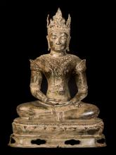 19th Century Royal Chiang Saen Mediation Buddha