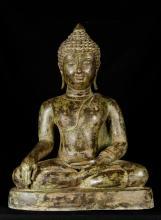 19th Century Antique Chiang Saen Enlightenment Buddha