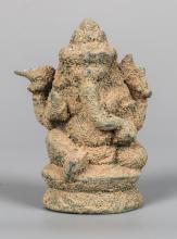 Seated Bronze Indian Kashmir Style Ganesha