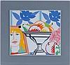 Nature morte, 1988, Tom Wesselmann (1931-2004), d'après, multiple sur porcelaine, édition d'art Rosenthal, numéroté 76/299 au dos, 48x51 cm, Tom Wesselmann, CHF800