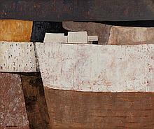 Charles MONNIER (1925-1993) Neige à Songy acryliqu