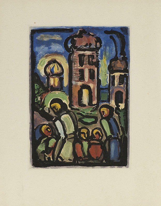 * Georges Rouault (1871-1958), */Le Christ et Mammon/**