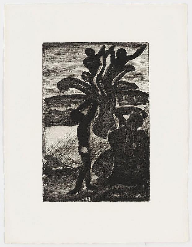 Rouault (1871-1958) Père Ubu 20 estampes en noir e