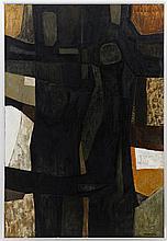 Charles Monnier (1925-1993) Les deux arbres acryli