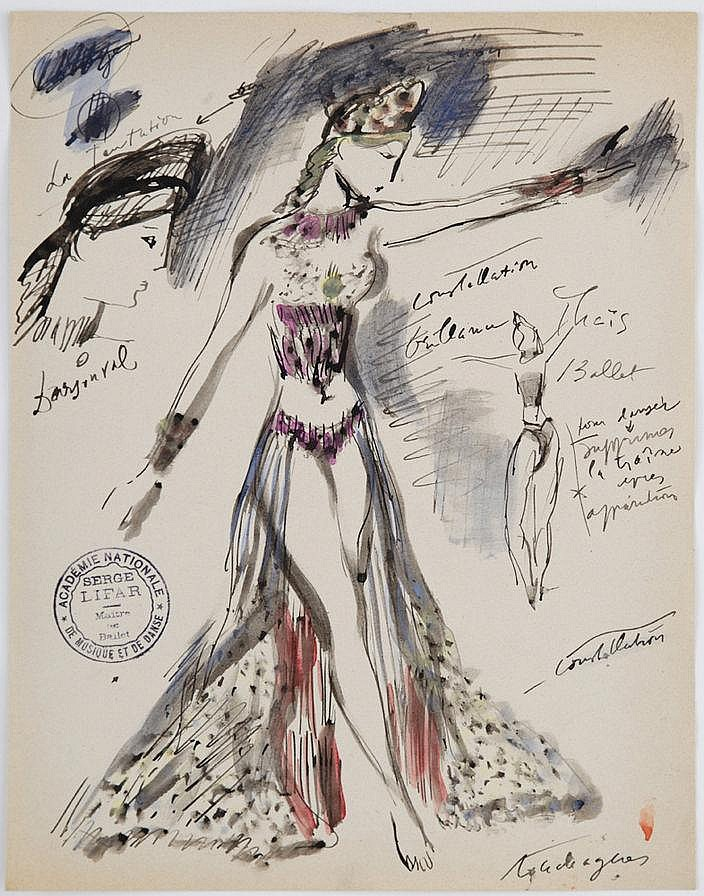 Louis Touchagues (1893-1974), Costumes pour le