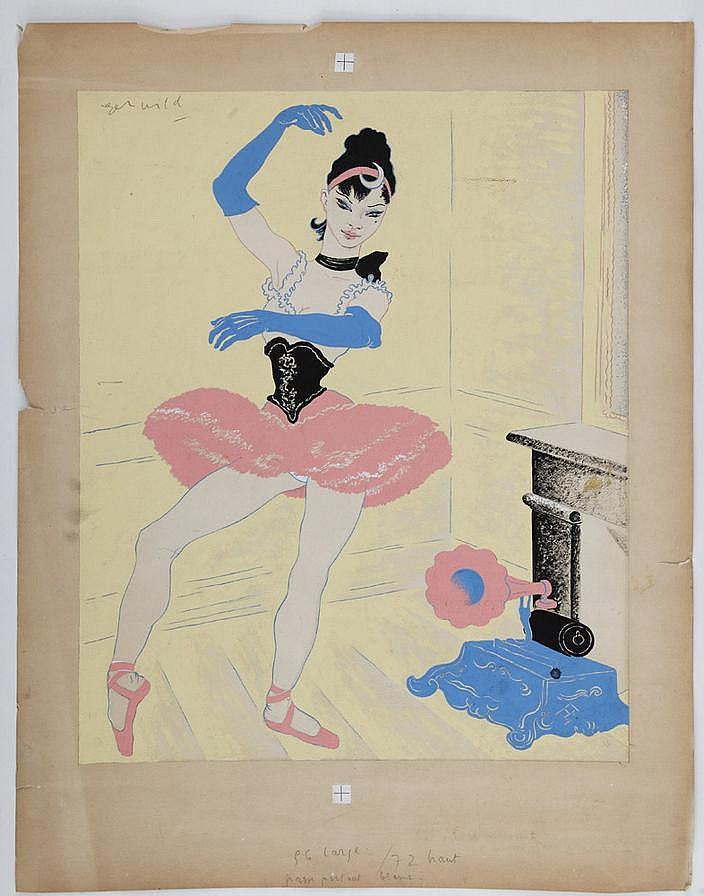 Roger Wild (1894-?), Danseuse au phonographe,