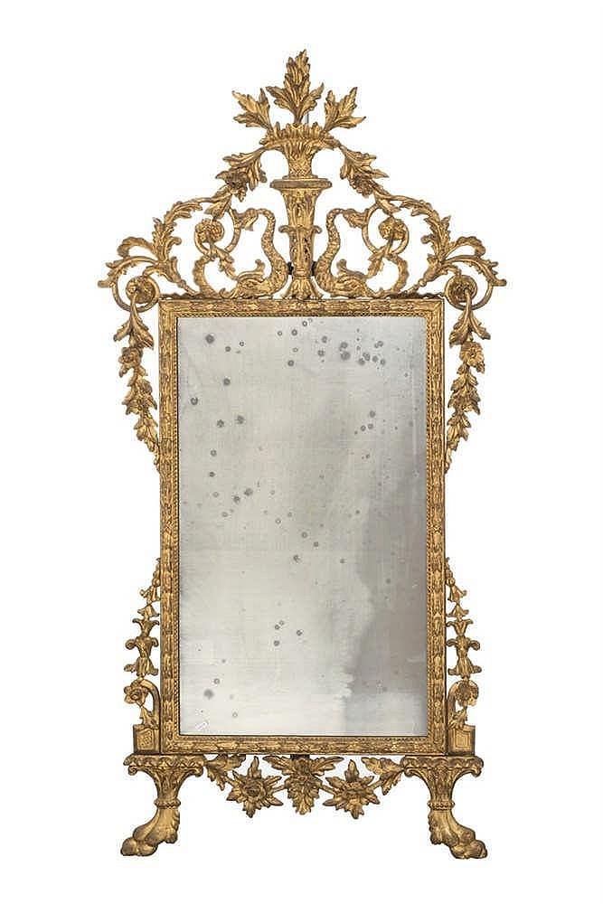 Miroir de style n oclassique angleterre xviiie s bois sc for Miroir au mercure