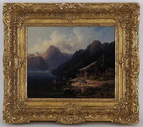 Friedrich Zahn (1826-1899), Paysages lacustres