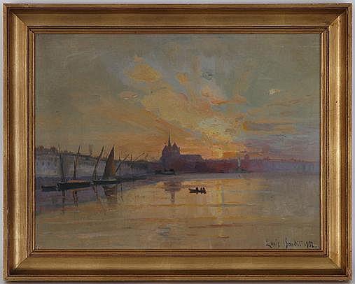 Louis Amédée Baudit (1870-1960), Coucher de soleil