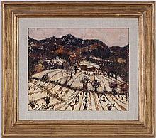 Georges Girard (1917-2003), Le vallon , huile sur toile signée, contresignée, titrée et datée 1983 au verso, 38x46 cm