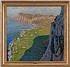 Cesare Esposito (1886-1943), Les falaises d'Etretat, huile sur toile, signée, 69x72 cm, Cesare Esposito, CHF1,500