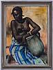 Pal Fried (1893-1976), Africaine, pastel sur papier, signé et daté (1)935 (?), 95x67 cm (à vue), Pal Fried, CHF700